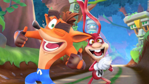 And he's bringing Crash Bandicoot with him!